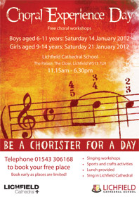 Be a Chorister for a Day 2012